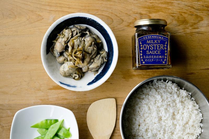 オイスターソースの牡蠣炊き込みご飯1
